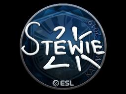 Наклейка | Stewie2K (металлическая) | Катовице 2019
