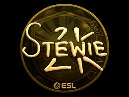 Наклейка | Stewie2K (золотая) | Катовице 2019