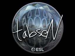 Наклейка | tabseN (металлическая) | Катовице 2019