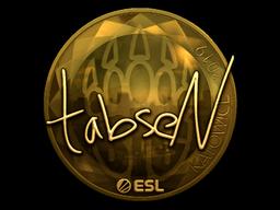 Наклейка | tabseN (золотая) | Катовице 2019