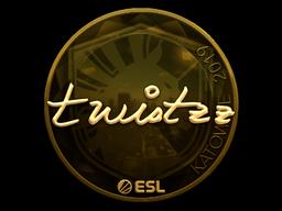 Наклейка | Twistzz (золотая) | Катовице 2019