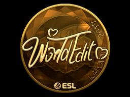 Sticker   WorldEdit (Gold)   Katowice 2019