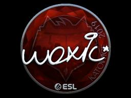 Наклейка | woxic (металлическая) | Катовице 2019