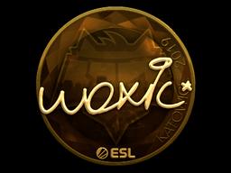 Наклейка | woxic (золотая) | Катовице 2019