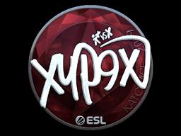 Наклейка | Xyp9x (металлическая) | Катовице 2019