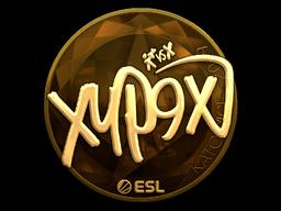 Наклейка | Xyp9x (золотая) | Катовице 2019