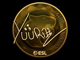 Sticker   yuurih (Gold)   Katowice 2019