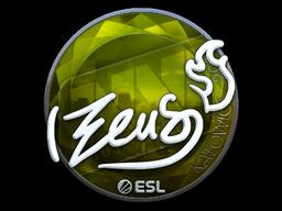 Наклейка | Zeus (металлическая) | Катовице 2019