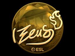 Наклейка | Zeus (золотая) | Катовице 2019