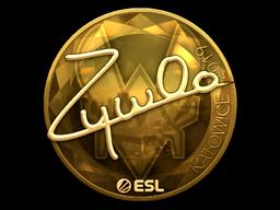 Sticker   ZywOo (Gold)   Katowice 2019