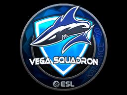 Наклейка | Vega Squadron (металлическая) | Катовице 2019