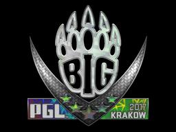Sticker   BIG (Holo)   Krakow 2017