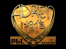 Sticker | AdreN (Gold) | Krakow 2017
