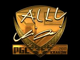 Sticker | allu (Gold) | Krakow 2017