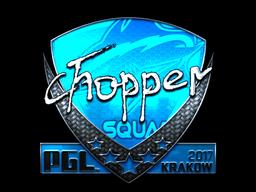 Sticker | chopper (Foil) | Krakow 2017