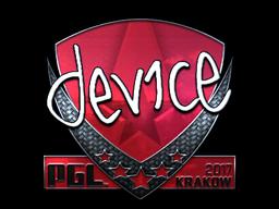 Sticker | device (Foil) | Krakow 2017