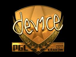 Sticker | device (Gold) | Krakow 2017