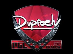 Sticker | dupreeh (Foil) | Krakow 2017