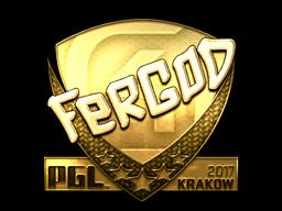 Sticker | fer (Gold) | Krakow 2017