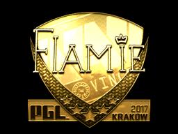 Sticker | flamie (Gold) | Krakow 2017
