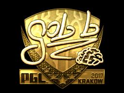 Sticker | gob b (Gold) | Krakow 2017
