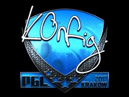 Sticker | k0nfig (Foil) | Krakow 2017