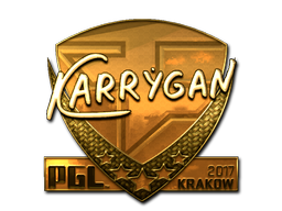 Sticker | karrigan (Gold) | Krakow 2017