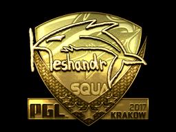 Sticker | keshandr (Gold) | Krakow 2017