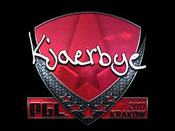 Sticker | Kjaerbye (Foil) | Krakow 2017