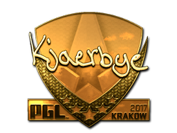Sticker | Kjaerbye (Gold) | Krakow 2017
