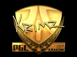 Sticker | KRIMZ (Gold) | Krakow 2017