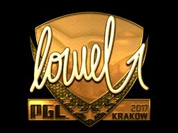 Sticker | loWel (Gold) | Krakow 2017