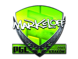 Sticker | markeloff (Foil) | Krakow 2017