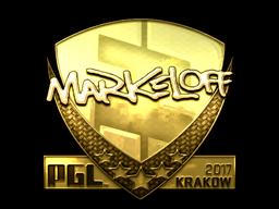 Sticker | markeloff (Gold) | Krakow 2017