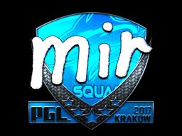 Sticker | mir (Foil) | Krakow 2017