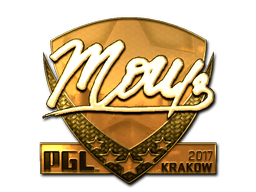 Sticker | mou (Gold) | Krakow 2017