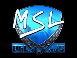 Sticker | MSL (Foil) | Krakow 2017