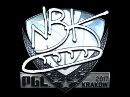 Sticker | NBK- (Foil) | Krakow 2017