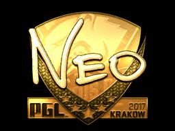 Sticker | NEO (Gold) | Krakow 2017