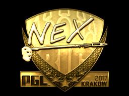 Sticker | nex (Gold) | Krakow 2017