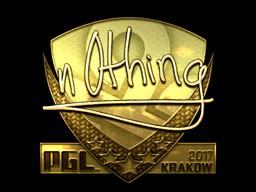 Sticker | n0thing (Gold) | Krakow 2017