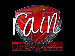 Sticker | rain (Foil) | Krakow 2017
