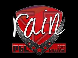 Sticker | rain | Krakow 2017
