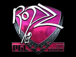 Sticker | ropz (Foil) | Krakow 2017