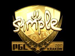 Sticker | s1mple (Gold) | Krakow 2017