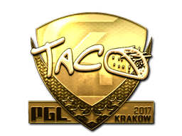 Sticker | TACO (Gold) | Krakow 2017