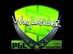 Sticker | wayLander (Foil) | Krakow 2017