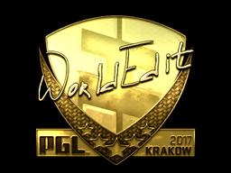 Sticker | WorldEdit (Gold) | Krakow 2017