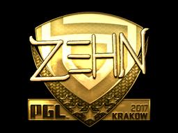 Sticker | zehN (Gold) | Krakow 2017