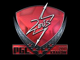 Sticker | Zeus (Foil) | Krakow 2017